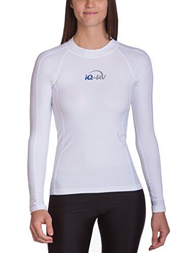 iQ-UV Damen Uv 300 Shirt Slim Fit Ls T, Weiß, XL