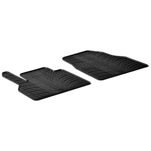 AutoStyle GL 0045 Set de Alfombras de Caucho con Clips de Montaje Perfil TK, 2 Unidates