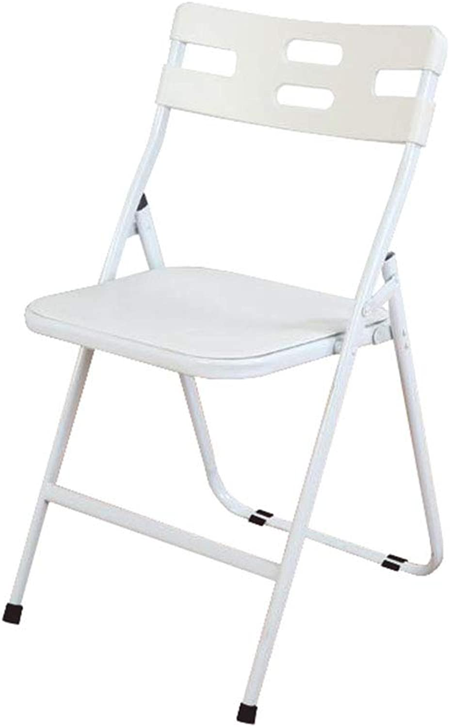 Folding Chair Office Desk Chair Staff White Plastic Padded Student Training Modern