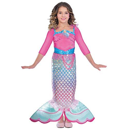 Amscan 9903280 Kinderkostüm Barbie Regenbogen Meerjungfrau, 3-5 Jahre