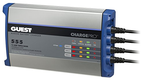 Guest On-Board Battery Charger 15A / 12V; 3 Bank; 120V Input, 2713A