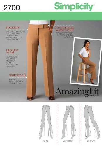 Simplicity Sewing Pattern 2700 Miss Petite Pants, R5 (14-16-18-20-22)
