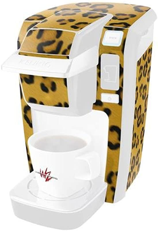 Leopard Skin Long Decal Style Vinyl Skin Fits Keurig K10 K15 Mini Plus Coffee Makers KEURIG NOT INCLUDED