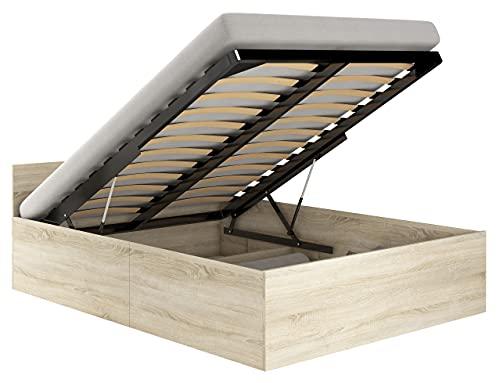 Shumee Cama CLP de 120x200 con Estructura y colchón de Roble Sonoma