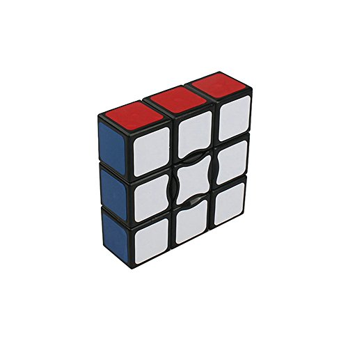 MSZtech Suave y Velocidad 1x3x3 Cubo mágico Cubo Puzzle Cubo (5.7x5.7x1.9cm-Negro) (1x3x3)