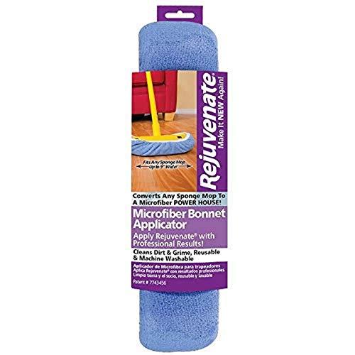 "Rejuvenate Microfiber Bonnet Applicators Fits Standard 9"" Sponge Mop Head - Washable and Reusable Microfiber Mop Bonnets – Pack of 1(Package may vary)"