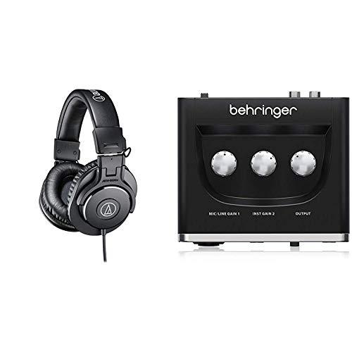Audio-Technica ATH-M30XAuriculares de Diadema Cerrados (3.5 mm), Color Negro + Behringer U-PHORIA UM2 Equipos de música adicionales Negro