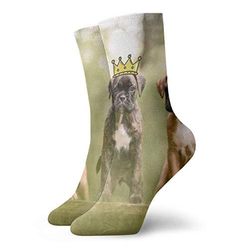 Socks Calcetines Boxer Welpen Tiere Calcetines cortos unisex para adultos que absorben la humedad atléticos para correr, fitness, viajes, trabajo