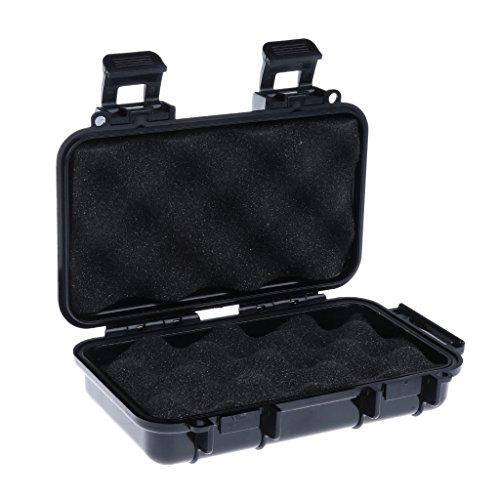Sharplace Noir Boîte de Stockage en Plastique ABS, Boîte de Rangement Idéal pour Sport Extérieur, Boîte de Outil - Noir, L