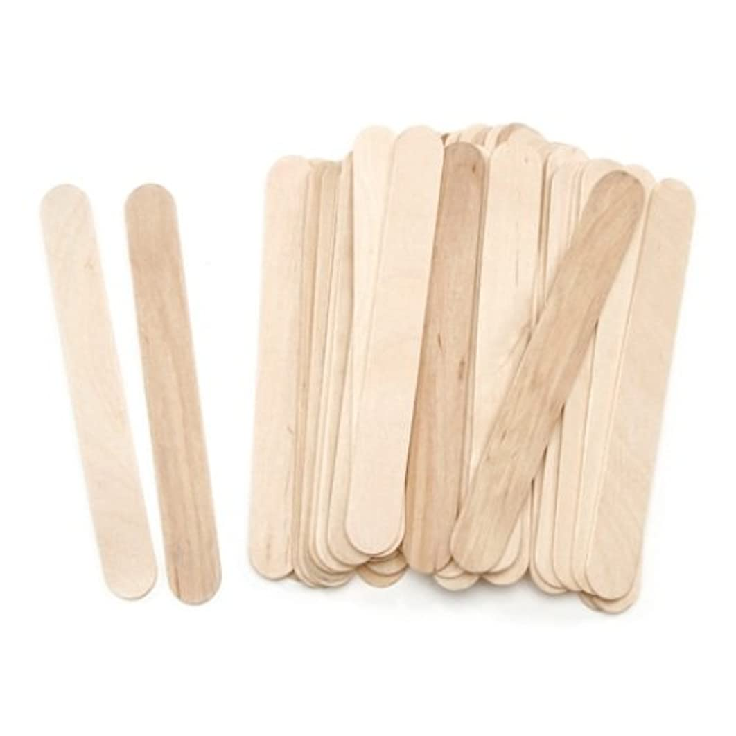 """ArtWall Darice Jumbo Wood Craft Sticks – Natural Color – Perfect for Craft Projects – Sturdy Wood Sticks Used for Kids Projects, Classrooms, Home, Garden and More – 5 3/4"""" Long, 45 Per Pack"""