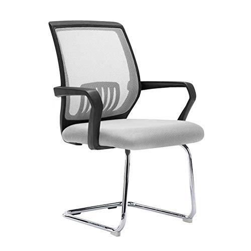 JIEER-C stoel voor de vrije tijd Libero bureaustoel, rugleuning ergonomische stoel voor studenten, conferentiestoel, robuust Black frame Grijs