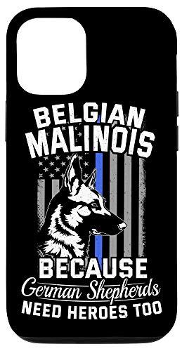 iPhone 12/12 Pro K9 Unit Malinois Tshirt K9 Thin Blue Line Flag Police Dog Case