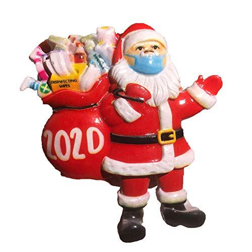 LXMM 2020 Decoración de Fiesta Enseres domésticos Decoración de casa La Navidad Hazlo tú Mismo. Material de Fiesta Santa Claus Colgante(2D)