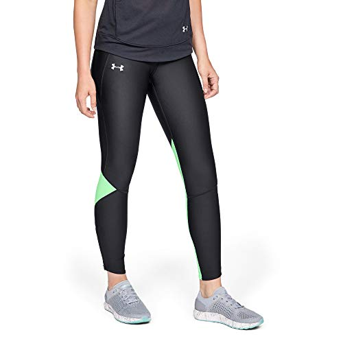 Under Armour Under Armour Frauenrüstung Fly Fast Tight Leggings, X-Small, Black/Green Typhoon/Reflective