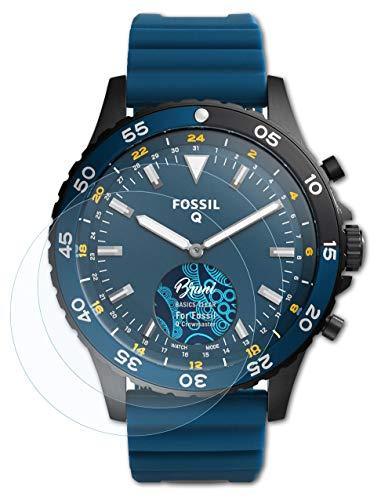 Bruni Schutzfolie kompatibel mit Fossil Q Crewmaster Folie, glasklare Bildschirmschutzfolie (2X)