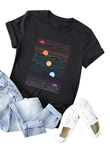 Read About Festnight Fashion Women T-Shirts Printing, Women's Cute T Shirt Junior Tops Teen Girls Gr...