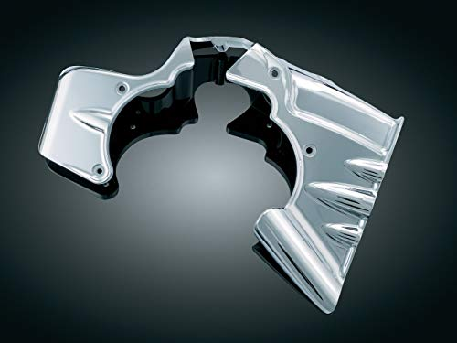 Kuryakyn 7876 Transmission Shroud/Covering for 2007-08 Harley-Davidson Touring Motorcycles with Stock Head Pipes, Chrome