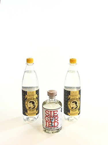 Siegfried Gin Tonic Set - Siegfried Rheinland Dry Gin 500ml (41% Vol) + 2 Thomas Henry Tonic Water 1000ml