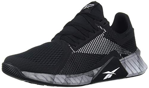 Reebok Men's FLASHFILM Train Cross Trainer, Black/White/Black, 9 M US