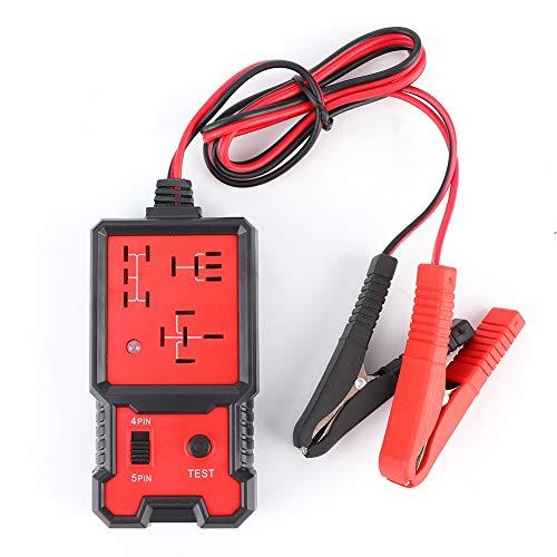 Fydun Probador de relés automotrices, probador rápido de relés electrónicos de 12 V, comprobador de baterías automotrices, Herramienta de diagnóstico automático