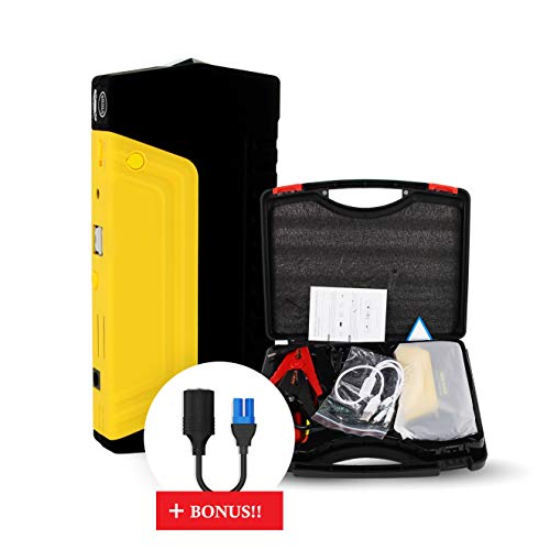 Carmann Portable Car Battery Jump Starter 50800 mAh, Compact 12V/16V/19V Powerful 600A