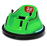 Bumper Car for Kids 12V with Remote Control Flashing Lights Music 2 Speeds DIY Stickers for 1.5+ Baby Toddlers Children Electric Ride on Cars Vehicle Toys 66 LBS Weight Capacity , ASTM Certified