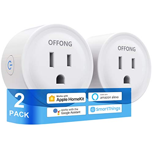 Smart Plug Homekit,Support Apple HomeKit+Siri+Homepod+iPad+Apple TV+MAC,Amazon Alexa,Google Assistant,Tuya Smart,SmartThings & App Remote Control,Timer & Scheduled,No Hub Needed,2.4GHz,1200W,2 Pack