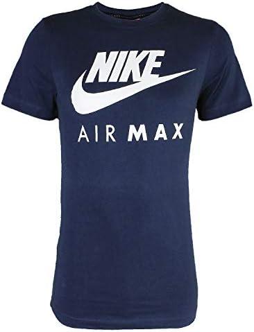 Nike Air Max - Camiseta manga corta y cuello redondo negro