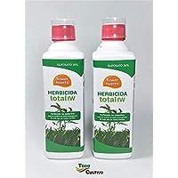 Herbicida Total Glifosato 36% Flower 1 litro (2x500 ml. Tratamiento válido para 100 litros Agua) Aplicación en Post Emergencia de Malas Hierbas, no Residual y no selectivo (Total).
