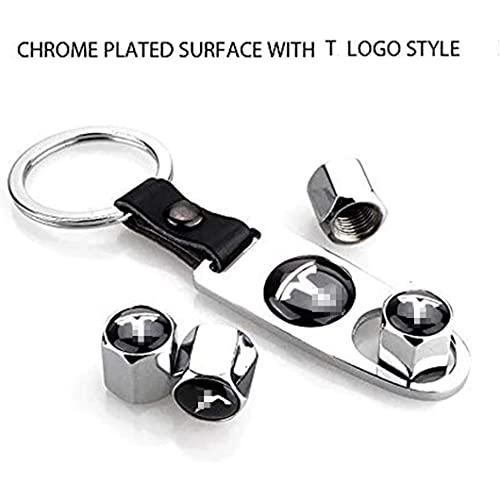 4 Piezas VáLvula de NeumáTico de AleacióN de Aluminio, para Tesla Model X S 3 Y, AutomóViles Tapas para VáLvulas de Polvo Universal de Sistema Antirrobo