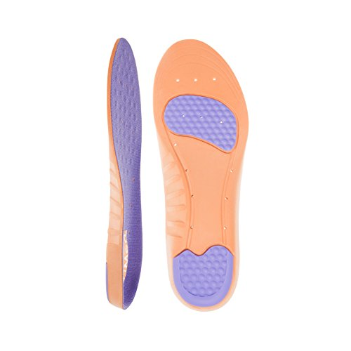 DJMed Stamina - Soft Shoe Anti-Fatigue Cushion Insoles - Inserts Support Standing, Running, Sore Feet, Hiking, Heel Pain (Womens 4-6.5)