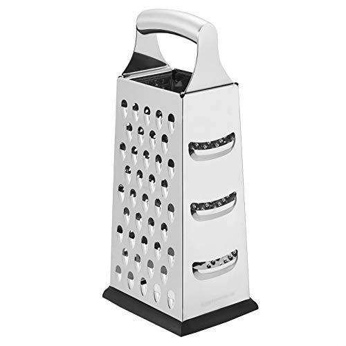 AmazonCommercial Robuste Edelstahl-Käsereibe, Vierkantreibe mit rutschfestem Boden, 22,9 cm