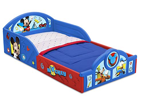 Purchase Disney Mickey Mouse Deluxe Toddler Bed with Attached Guardrails
