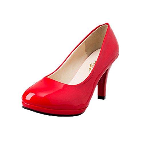 Zapatos De TacóN para Mujer,ZARLLE Moda Spring Casual Oficina De Punta Redonda Gruesa Boca Superficial De Las Mujeres Zapatos De Tacon Alto Zapatos De Baile Latino De TacóN Alto/Medio para Mujer