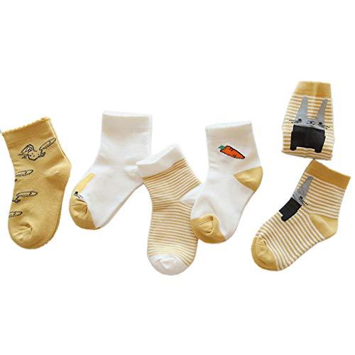 Manyo - 5 pares de calcetines para bebé, antideslizantes,...