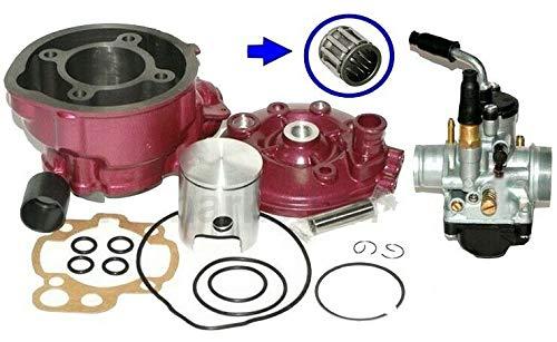 UNTIMERO 90ccm Sport Racing Zylinder KIT VERGASER 21mm Set für Yamaha DT Supermoto 50 AM6 Zylinderkit