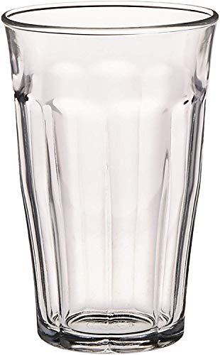 DURALEX 1030AB06 / 6 Vidrio de agua Picardie sin marca de llenado, 500 ml, paquete de 6