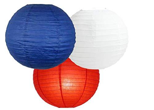 Farolillos papel surtidos paquetes 3 linternas