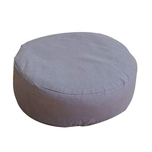 Fayeille Cojín de asiento con cojín redondo de trigo sarraceno para yoga, meditación en casa, con cremallera, suave, color Gris, tamaño Tamaño libre, 32.00 x 10.00 x 8.00centimeters