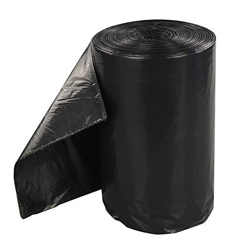 Dynko Abfalleimer Müllbeutel, 150 L Mülltasche Müllsäcke Schwarz, 70 Stück