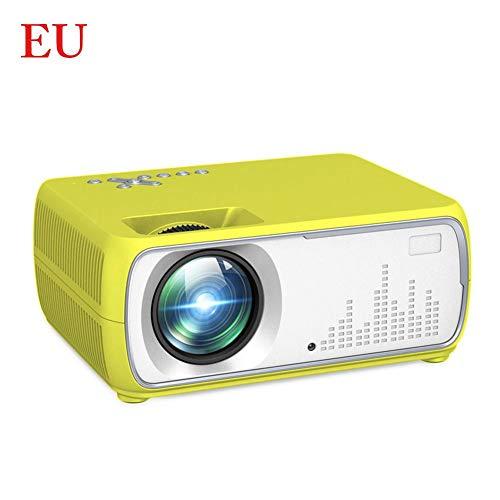 rcraftn Mini proyector portátil HD 1080P Nueva Pantalla LCD Proyector de Cine en casa Protector de Ojos Proyector de educación temprana Multifuncional LED Vida (Amarillo Azul)
