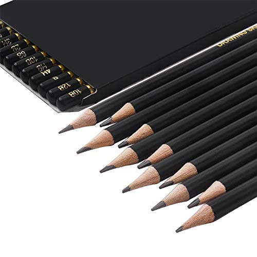 TAMATA Professional Drawing Sketching Pencil Set - 12 Pieces Art Drawing Graphite Pencils(12B - 4H), Ideal for Drawing Art, Sketching, Shading, for Beginners & Pro Artists Photo #3