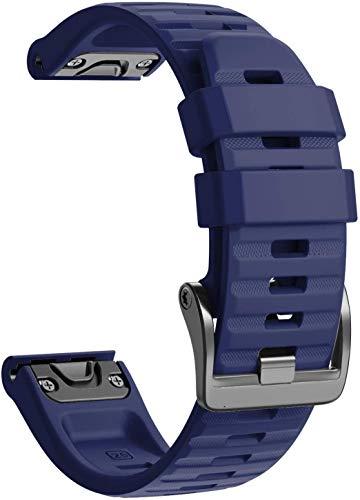 Classicase Correa de Reloj Compatible con Garmin Fenix 6X Pro/Fenix 6X Sapphire/Fenix 3 / Fenix 5X Plus/5X Sapphire, Impermeable Reemplazo Correas Reloj Silicona Banda (Pattern 2)