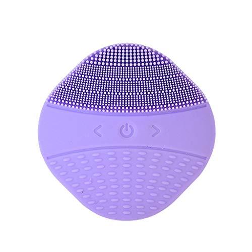Pinceau Brosse de Lavage Sonic Electric Pore Cleaner Mini modèle Rechargeable en Silicone 15 Instrument de Nettoyage Liuyu. (Color : Purple)