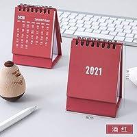 卓上カレンダー 2021シンプルな卓上カレンダーミニデスクトップ紙のシンプルなカレンダーデュアルデイリースケジューラ表プランナー卓上カレンダー カレンダー (Color : 7)