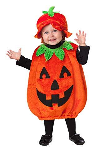 Amscan 999674 Babykostüm kleiner Kürbis mit Hut, Orange, 1-2 Jahre