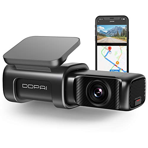 DDPAI Mini5 4K Dash Cam 2160P, 4K UHD Dash Cam Recorder 3840x2160P, Built in 5G WiFi GPS Dashboard Camera Recorder for Cars 64G eMMC Storage  5G WiFi & App  Night Vision, Parking Mode,Super Capacitor