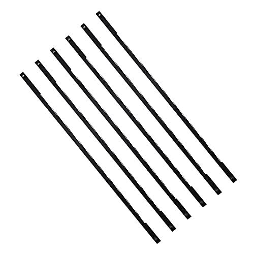 CYUaoao - 12 Hojas de Sierra de Marquetería 24 Dientes de 130mm Cuchillas de Sierra de Mesa para Serrar Madera Plástico Espuma Metal Blando