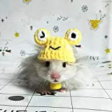 Mini sombrero de hámster tejido a mano, mini lindo disfraz de animal de dibujos...
