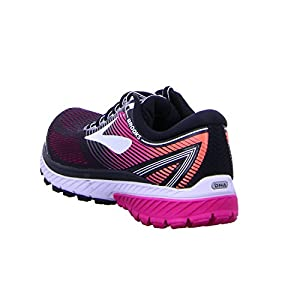 Brooks Women's Ghost 10 Black/Pink Peacock/Living Coral 12 AA US